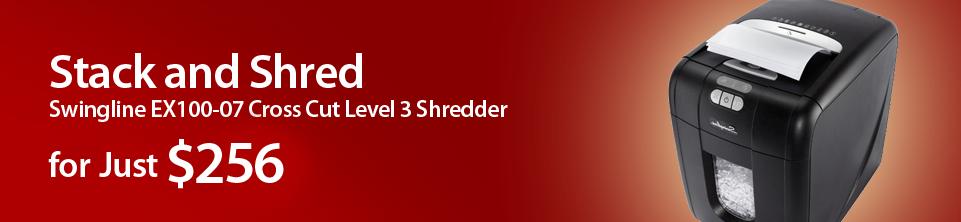 Swingline EX100-07 Cross Cut Level 3 Shredder