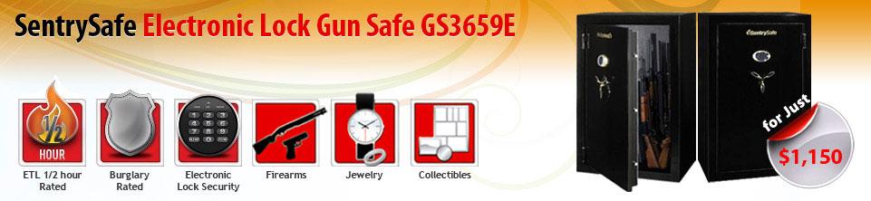 SentrySafe Electronic Lock Gun Safe GS2459E