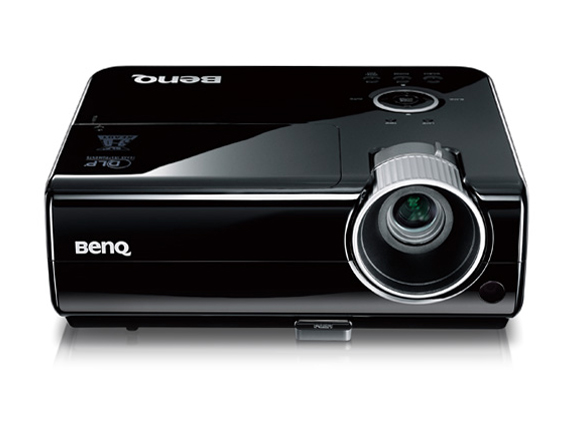 Benq 5.3 lbs DLP Projector, XGA, 2700 AL, 3000:1 CR, 4500/6000 lamp hrs(Nor/Eco), 3D Ready, HDMI, 2W Speaker