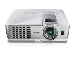 Benq 6 lbs DLP Short Throw Projector, XGA, 2500 AL, 3000:1 CR, 3D Ready, HDMI, USB Display & Reader, 4000/6000 lamp hours, 10W Speaker x 1