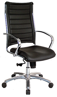 Eurotech High Back Black Vinyl Office Chair � Europa VE111