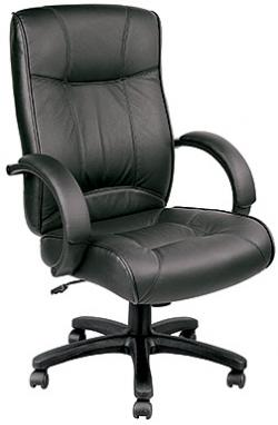 Eurotech High Back Black Leather Office Chair - Odyssey LE9406
