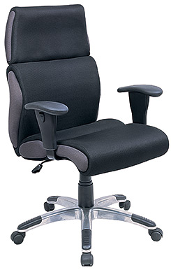 Eurotech High Back Black Fabric Executive Chair - Indy ME8260