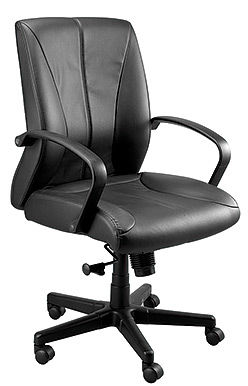 Eurotech Mid Back Black Vinyl Office Chair - Zyco VE6210