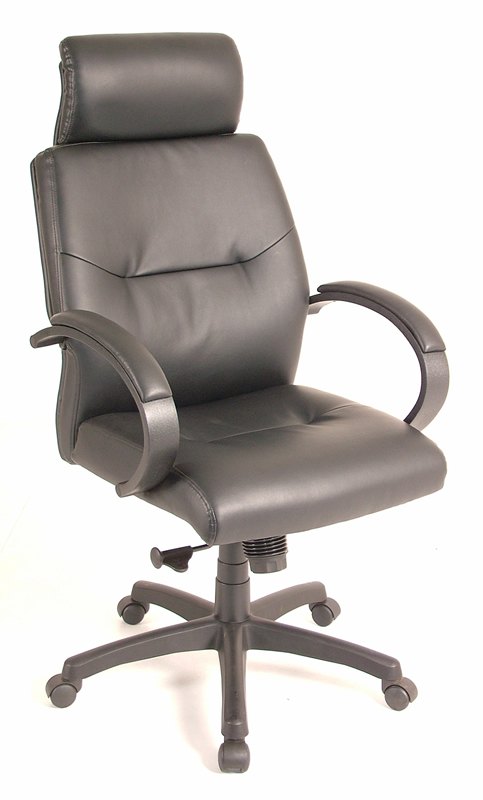 Eurotech High Back Black Leather Office Chair - Maxx LE410HI