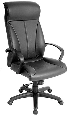 Eurotech High Back Black Vinyl Office Chair - Zyco VE6200
