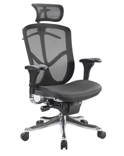 eurotech fuzion fuz9lx-hi mesh office chair raynor with headset