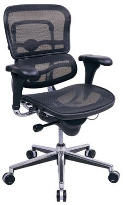Eurotech Mid Back Mesh Office Chair - Ergohuman Mesh ME8ERGLO