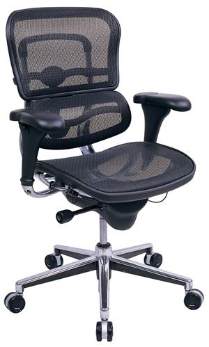 Eurotech Mid Back Mesh Office Chair - Ergohuman Mesh ME8ERGLO