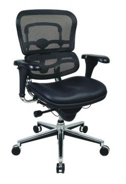 Eurotech Mid Back Black Mesh Office Chair - Ergohuman LEM6ERGLO