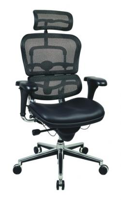 Eurotech High Back Black Mesh Office Chair - Ergohuman LEM4ERG