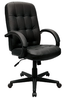 Eurotech High Back Black Leather Ergonomic Chair - Verona LE4200