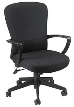 Eurotech Mid Back Black Fabric Office Chair - Tribeca FE900