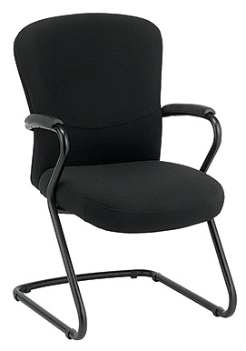 Eurotech Mid Back Black Fabric Guest Chair - Tribeca FEG940