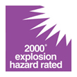 2000 explosion hazard rated