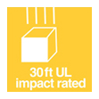 30 ft UL impact rated