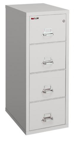 FireKing 25 inch 4 Drawer Letter Vertical File Cabinet 4-1825-C