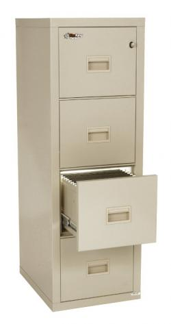 FireKing Turtle 4 Drawer Vertical File Cabinet 4R1822-C