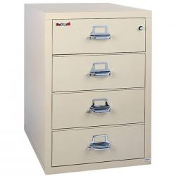 FireKing 4 Drawer 44 Inch Wide Lateral File Cabinet 4-4422-C