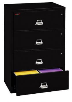 FireKing 4 Drawer 31 Inch Wide Lateral File Cabinet 4-3122-C