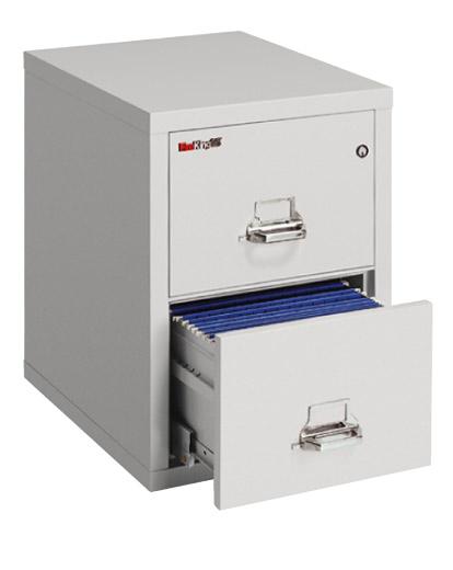 FireKing 25 inch 2 Drawer Letter Vertical File Cabinet 2-1825-C