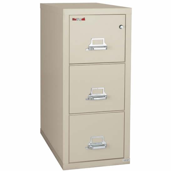 FireKing 3 Drawer Letter Vertical 2 hr Fire Proof File Cabinet 3-1943-2