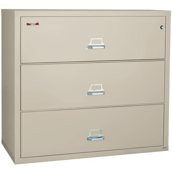 Superbe FireKing 3 Drawer 31 Inch Wide Lateral File Cabinet 3 3122 C