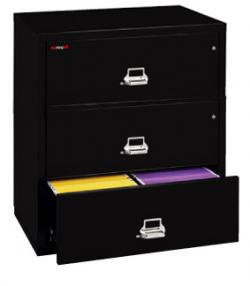 FireKing 3 Drawer 31 Inch Wide Lateral File Cabinet 3 3122 C   Parchment