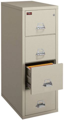 FireKing 2 Hour Vertical File Cabinet 4-2157-2 (4 Drawer legal)