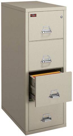 FireKing 2 Hour Vertical File Cabinet 4-2157-2 (4 Drawer legal)
