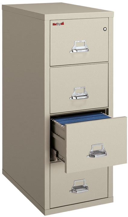 FireKing 2 Hour Vertical File Cabinet 4-1956-2 (4 Drawer letter)