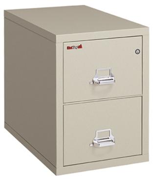 FireKing 2 Hour Vertical File Cabinet 2-1929-2 (2 Drawer letter)