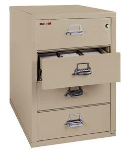 FireKing 4 Drawer Card-Check-Note Filing Cabinet 4-2536-C