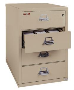 FireKing 4 Drawer Card-Check-Note Filing Cabinet 4-2536-C
