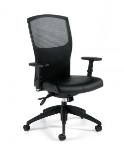 Global Alero Mesh Back Multi Tilter Leather Chair 1961LM-3