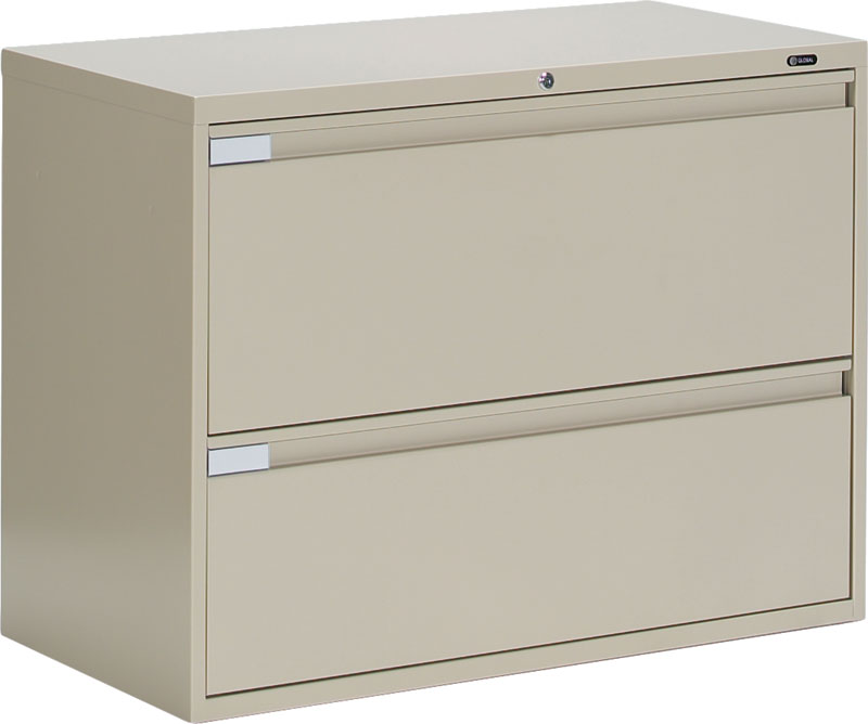 global 9336p-2f1h 2 drawer lateral filing cabinet