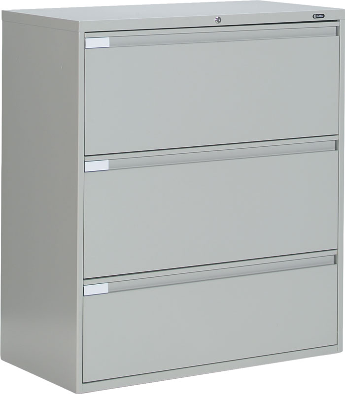 Global 9300 series 3 Drawer Lateral File Cabinet 9336P-3F1H