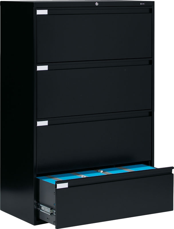 Global 9300 series 4 Drawer Lateral File Cabinet 9336P-4F1H