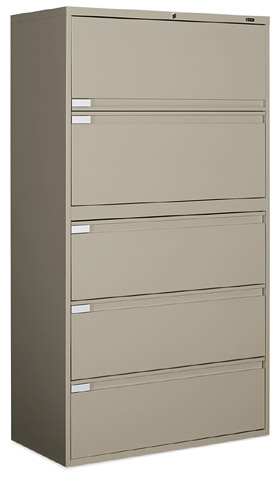 Global 9300 Series 5 Drawer Lateral File Cabinet 9336P 5F1H