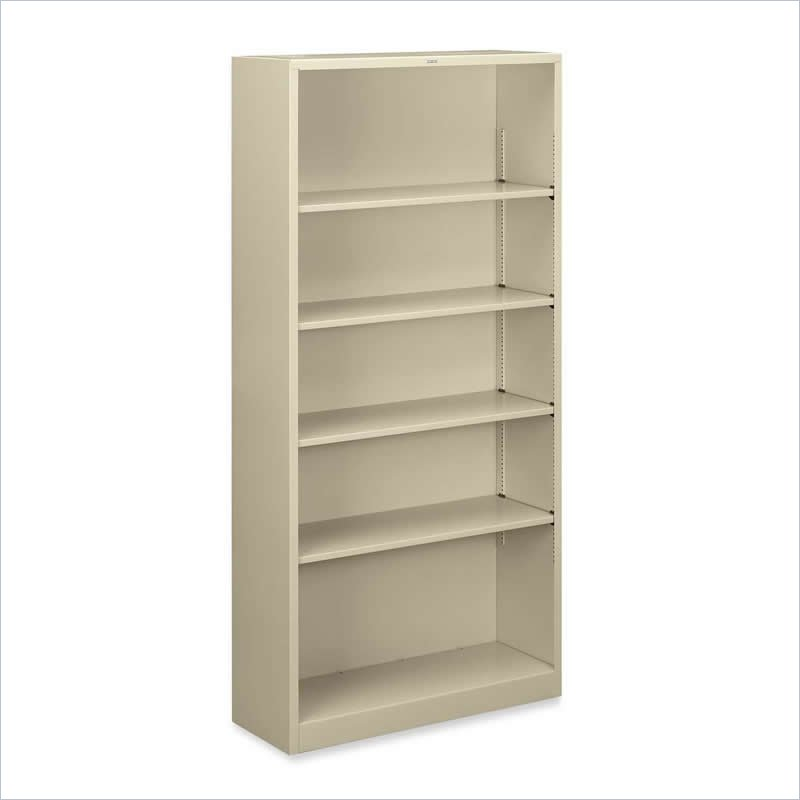 HON Large 5 Shelf Steel Bookcase S72ABC