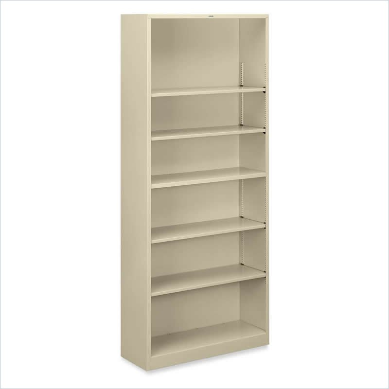 HON Large 6 Shelf Steel Bookcase S82ABC