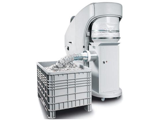 Kobra Cyclone HS with Compactor high volume industrial shredder