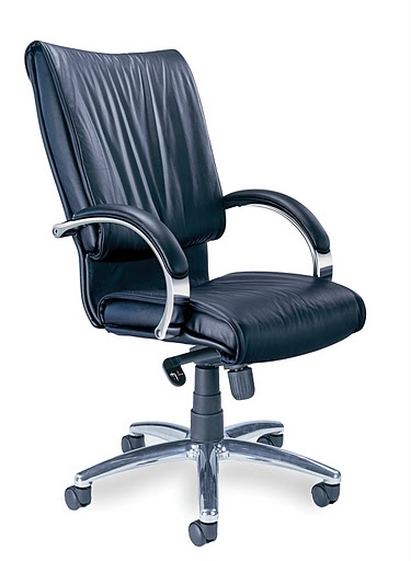 Mayline Mercado Leather President Chrome Base Executive Chair PR