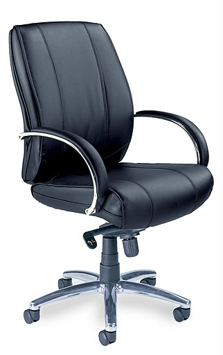 Mayline Mercado Leather Optima Mid Back Task Chair OPM