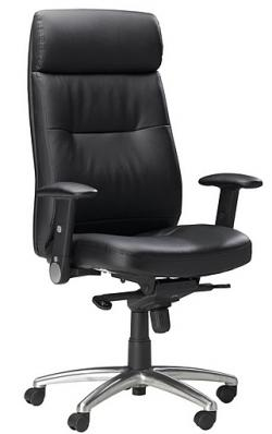 Mayline Mercado Leather Pivot Arm Executive Chair FL