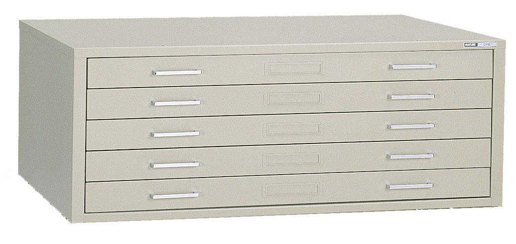 Mayline Self-Contained Filing Cabinet for 36x48 Sheets - 7869C
