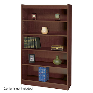 Safco Square-Edge 5 Shelves Wood Veneer Bookcase