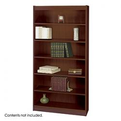 Safco Square Edge 6 Shelves Wood Veneer Bookcases 1505