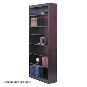 Safco Square-Edge 7 Shelves Wood Veneer Bookcase 1506