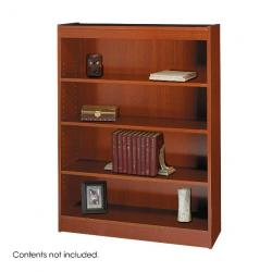 Safco Square-Edge 4 Shelves Wood Veneer Bookcase 1503